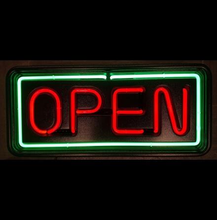 Open Neonskylt Liten